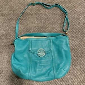 Turquoise authentic Tory Burch shoulder bag.